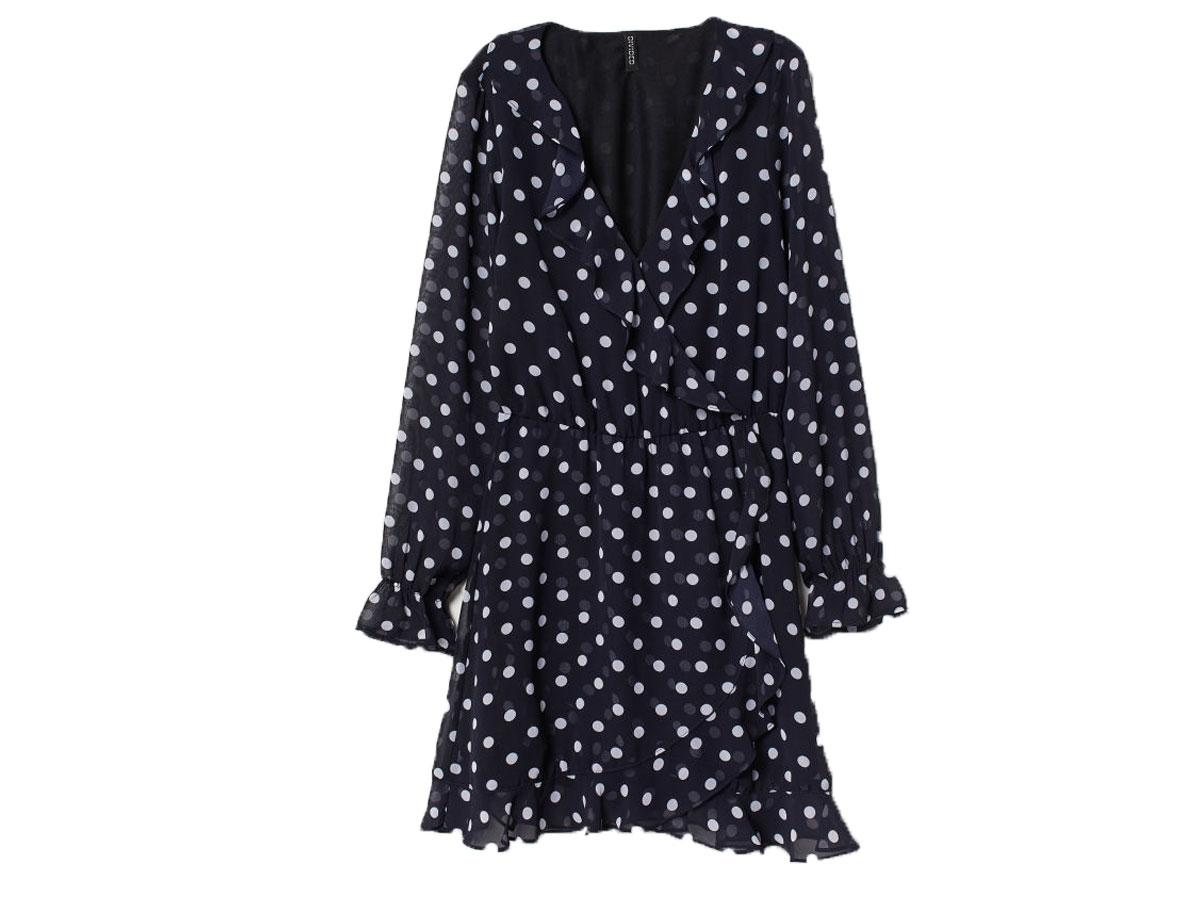 ee32923c41 Krótka sukienka w groszki