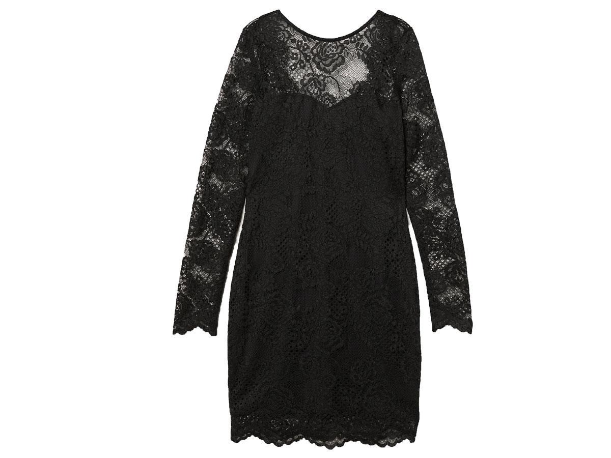 Krótka sukienka z koronki, H&M, cena ok. 129,90 zł