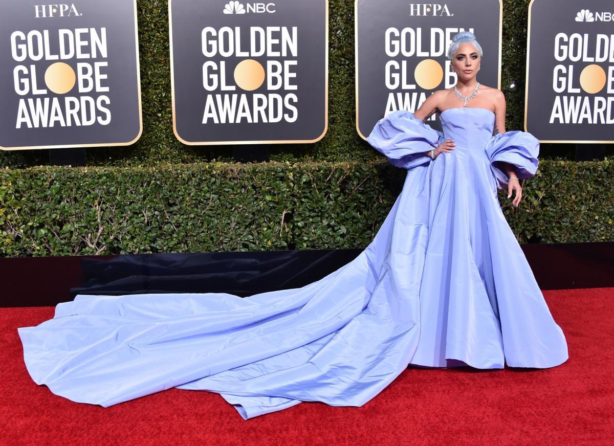 Lady Gaga na rozdaniu Złotych Globów 2019