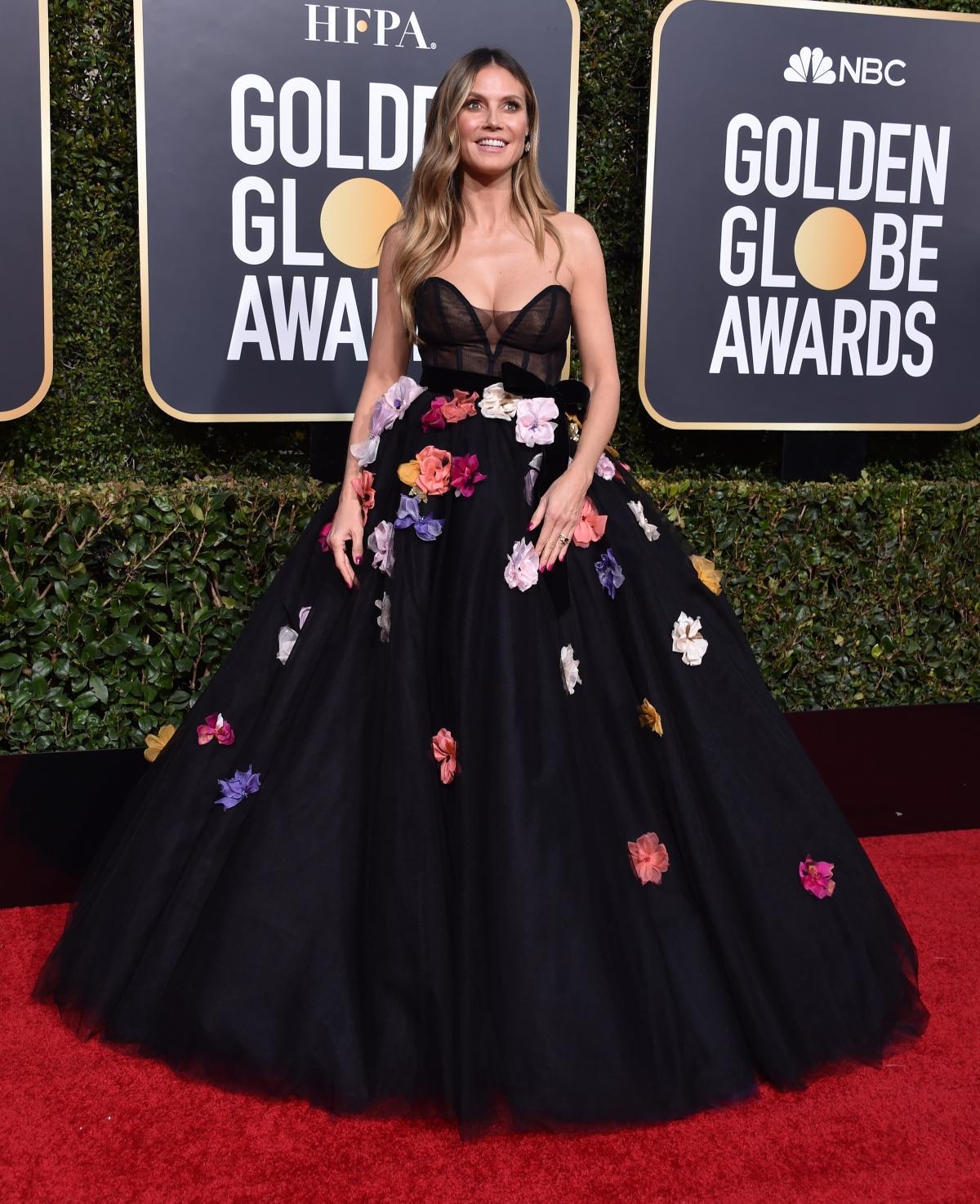 Heidi Klum na rozdaniu Złotych Globów 2019