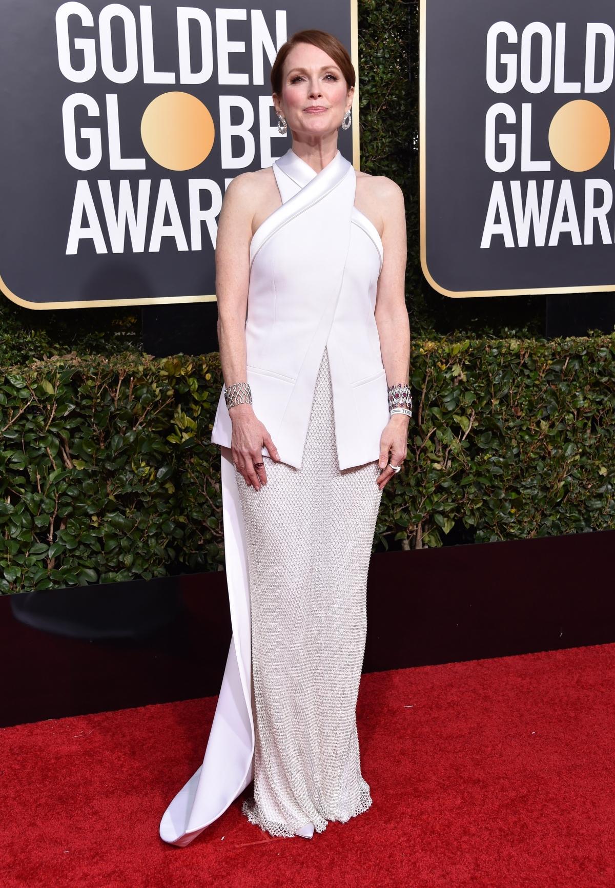 Julianne Moore na rozdaniu Złotych Globów 2019