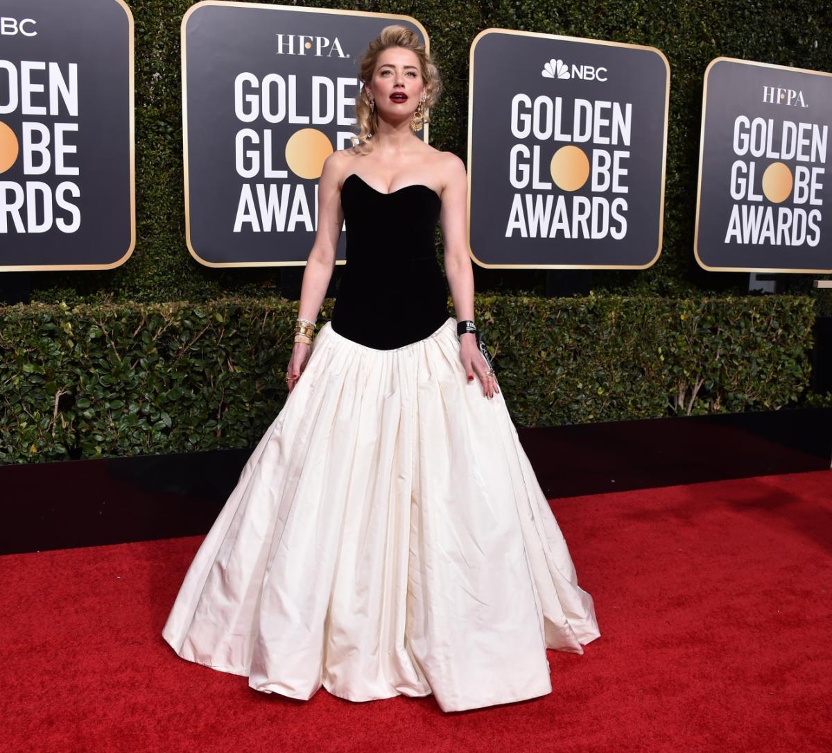 Amber Heard na rozdaniu Złotych Globów 2019