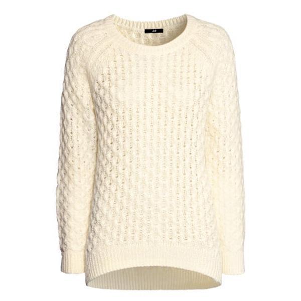 Biały sweter H&M