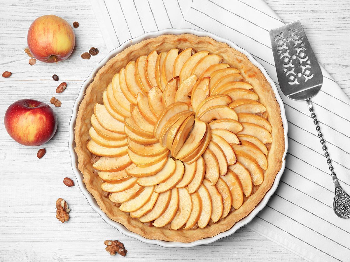 przepis na tartę z jabłkami