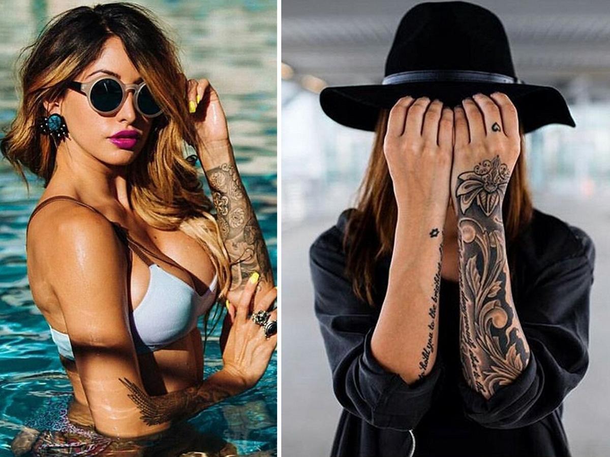 Tatuaż damski na ręku