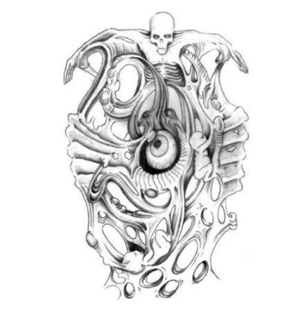 Tatuaże – biomechanika (galeria)