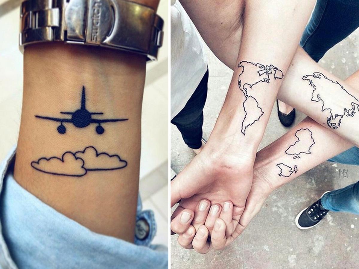 tatuaże na nadgarstku dla globtroterów