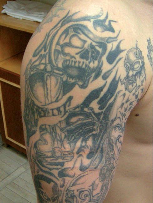 Tatuaże więzienne dowartościowujące –  galeria