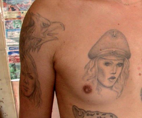 Tatuaże więzienne historyczne i ideologiczne – galeria
