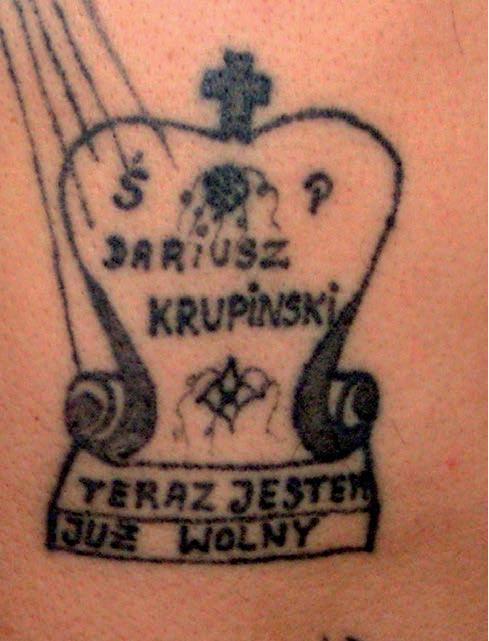 Tatuaże więzienne męczeńskie – galeria