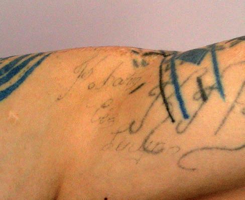 Tatuaże więzienne miłosne – galeria