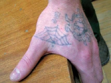 Tatuaże więzienne przestępcze –  galeria