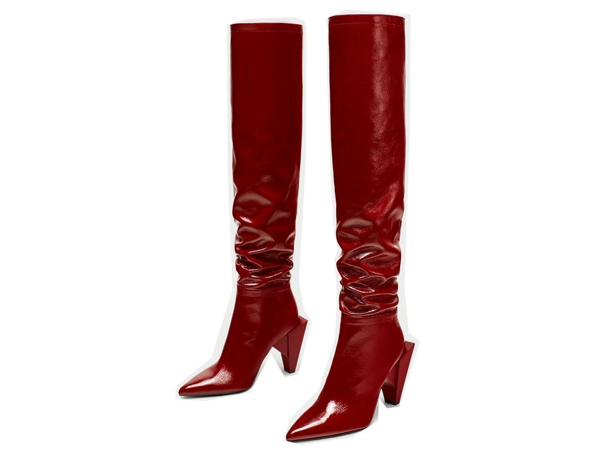 14947024e6e4f Kozaki Cena Modne Buty Na Zara 599 Ok Obcasie Czerwone Zł 8IvxdzIqP