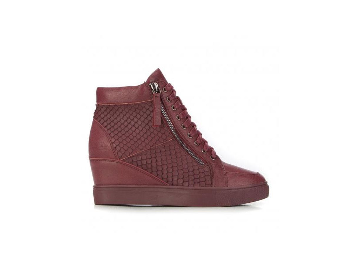 Bordowe sneakersy na koturnie, Wittchen, cena ok. 399,00 zł