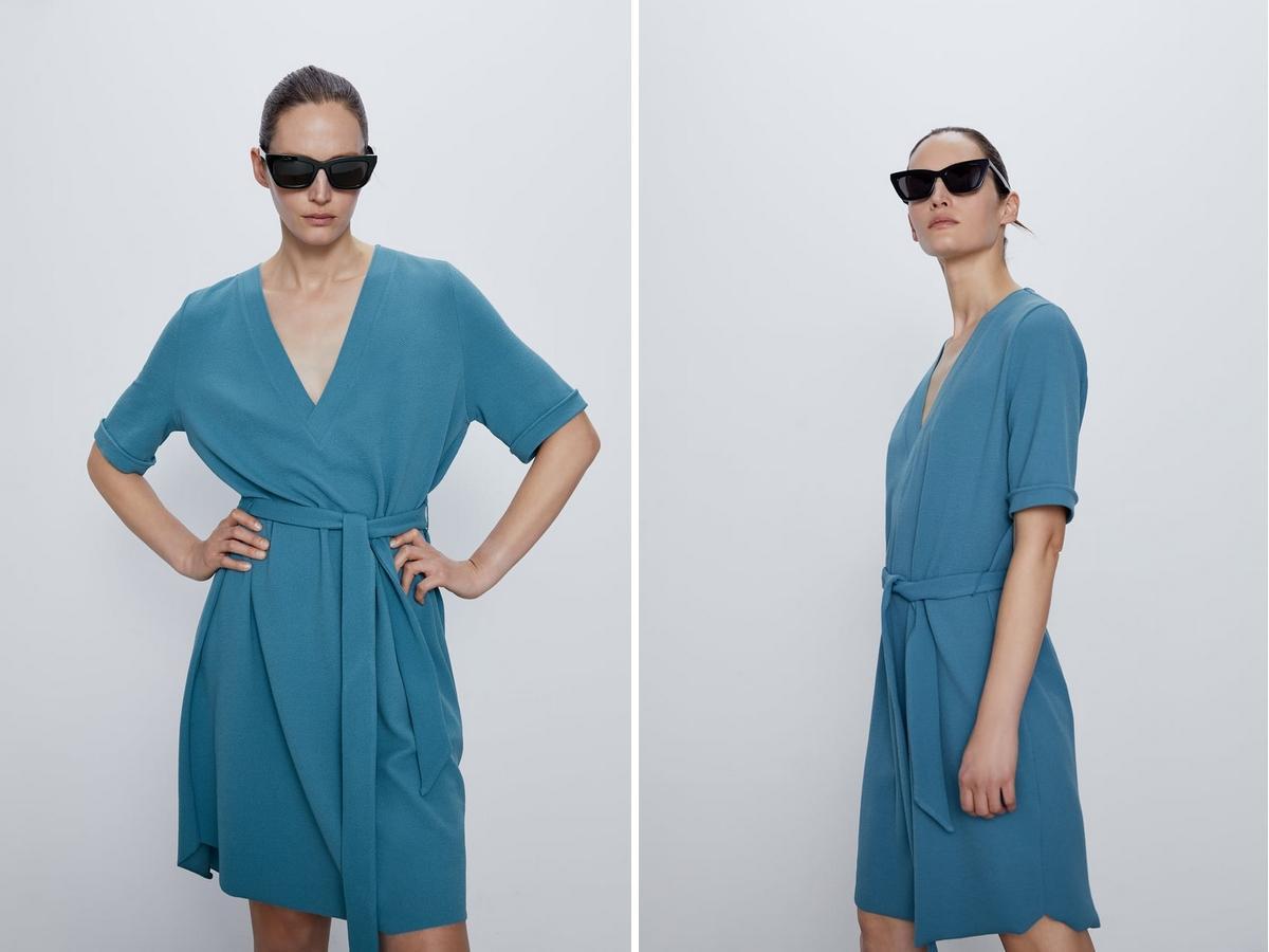 teksturowana sukienka z Zary tańsza niż w Lidlu