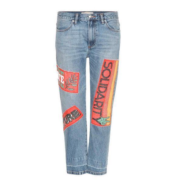 Spodnie dżinsowe z naszywkami Marc by Marc Jacobs, cena