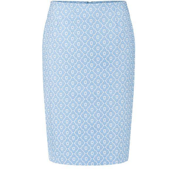 Niebieska spódnica ołówkowa Solar, cena