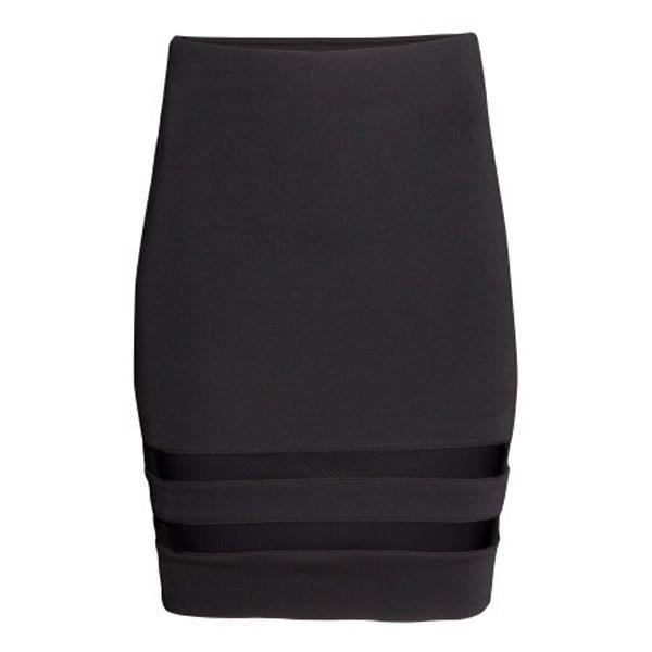 Czarna spódnica ołówkowa H&M, cena