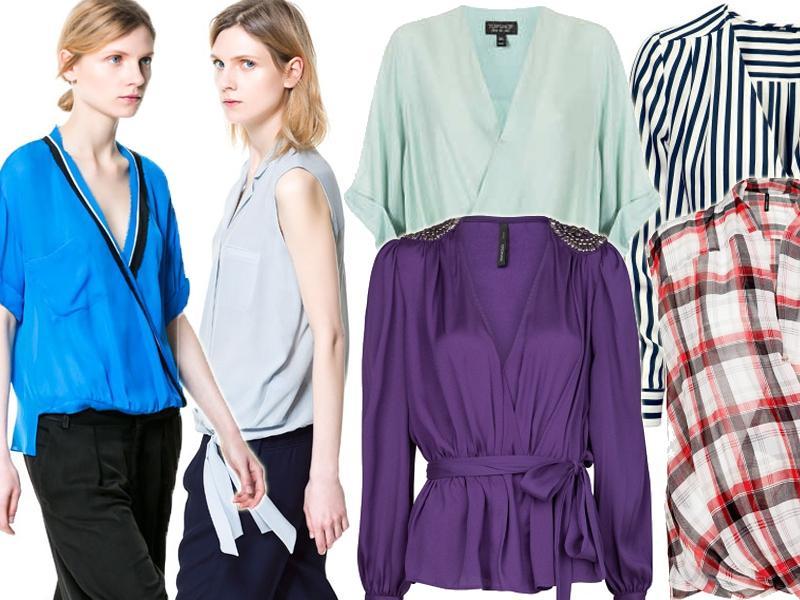 dafe17bd60 Bluzki kopertowe - koszule kopertowe - modne bluzki lato - Trendy ...