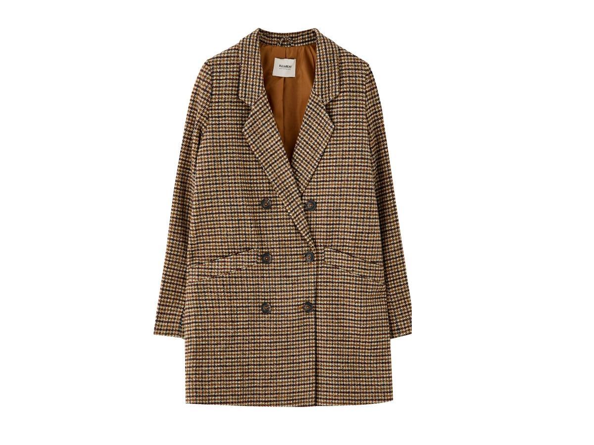 Płaszcz w kratę Pull&Bear, cena