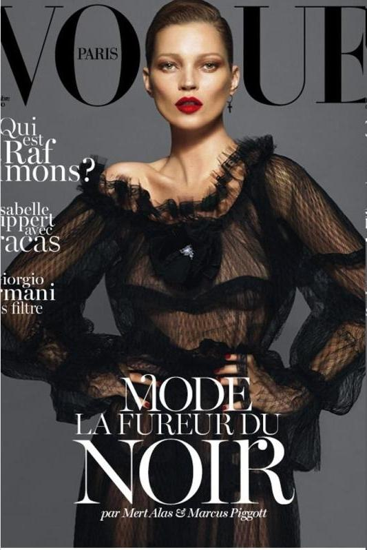 Kate Moss na okładce Vogue Paris