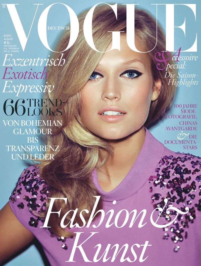 Vogue Germany sierpień 2012 - Toni Garrn