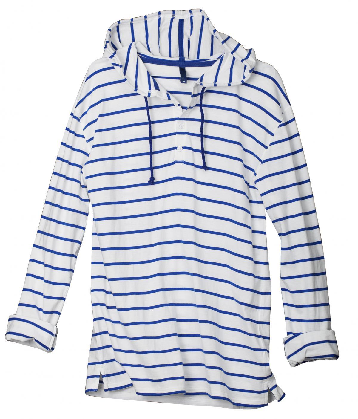 biały t-shirt H&M w paski - wiosna/lato 2011