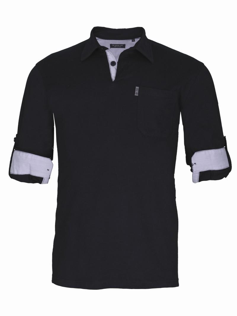 czarna koszulka Top Secret polo - kolekcja na lato