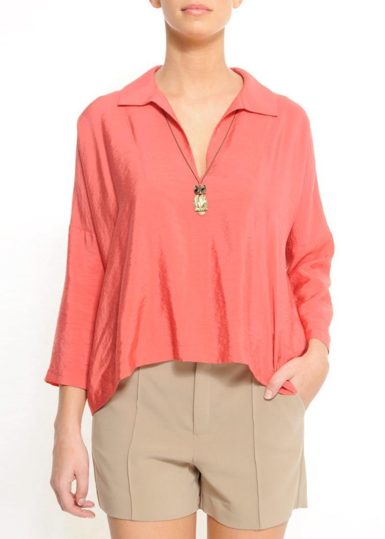 różowa bluzka Mango - wiosna/lato 2011