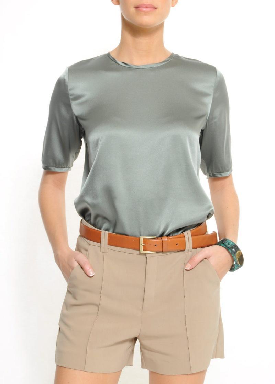 szara bluzka Mango satynowa - wiosna/lato 2011
