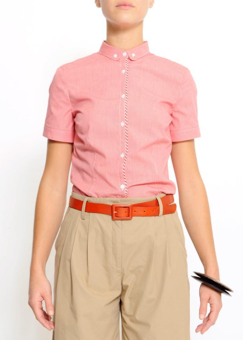 różowa bluzka Mango - trendy wiosna-lato