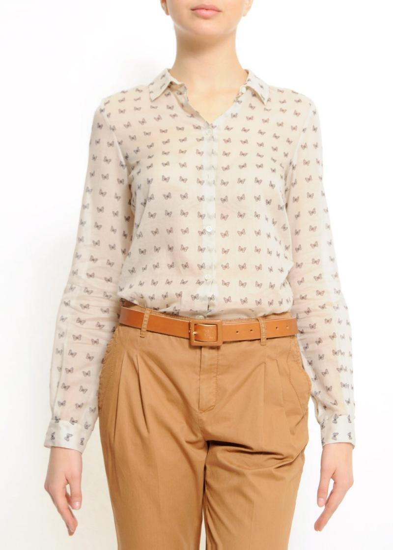 biała bluzka Mango we wzory - wiosna/lato 2011
