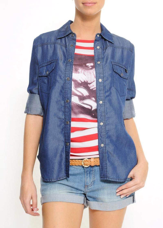 niebieska koszula Mango - wiosna/lato 2011