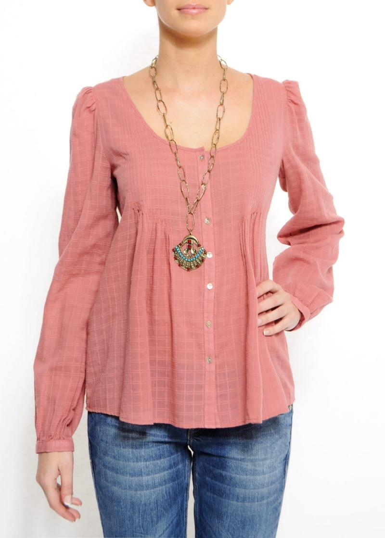 różowa bluzka Mango rozpinana - moda wiosna/lato