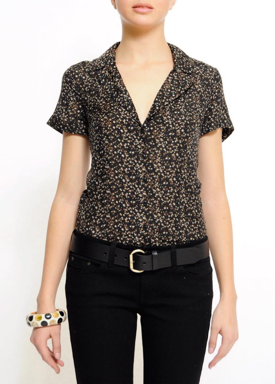 czarna bluzka Mango w kropki - wiosna/lato 2011