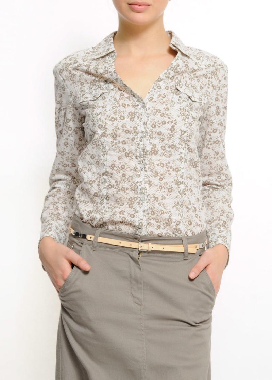 biała bluzka Mango w kwiaty - wiosna/lato 2011