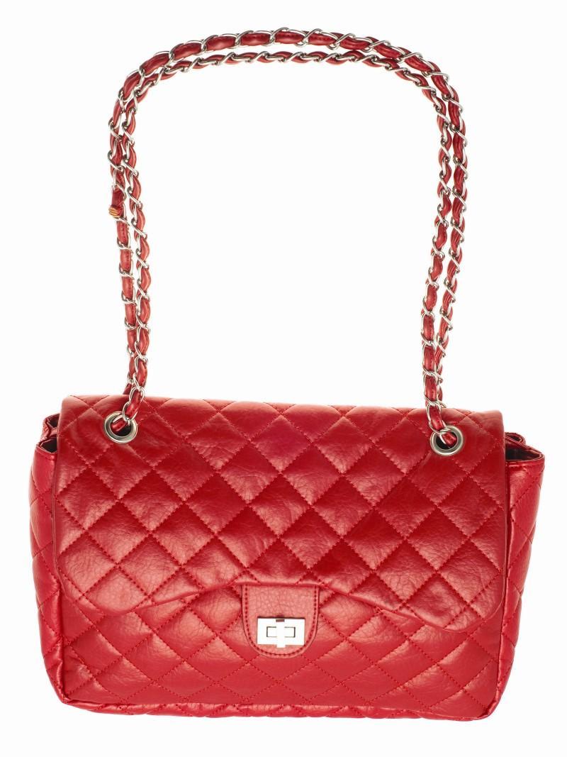 0aab267c69550 czerwona torebka Top Secret pikowana - jesień zima 2010 2011 ...