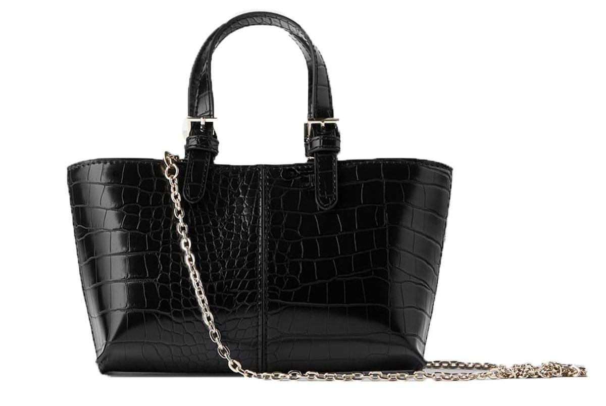 torebka w zwierzęcy deseń Zara