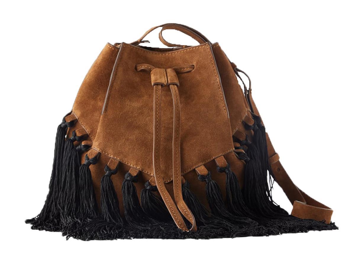 torebka z frędzlami w stylu boho Zara