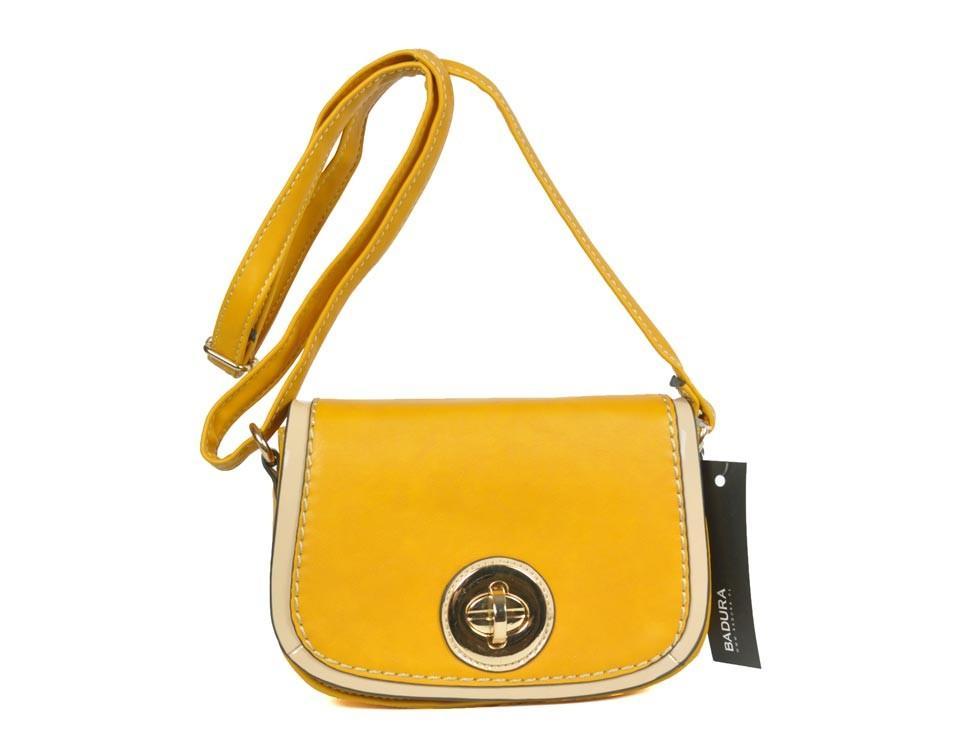 modna torebka Badura w kolorze żółtym - torebki 2013