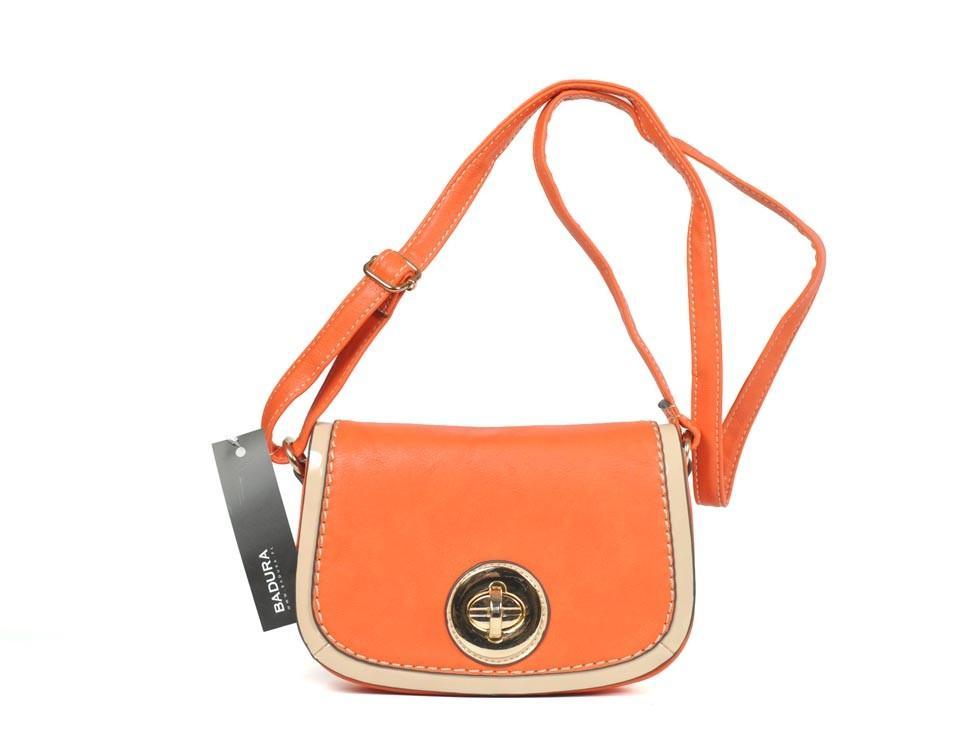 pomarańczowa listonoszka Badura - modne torebki