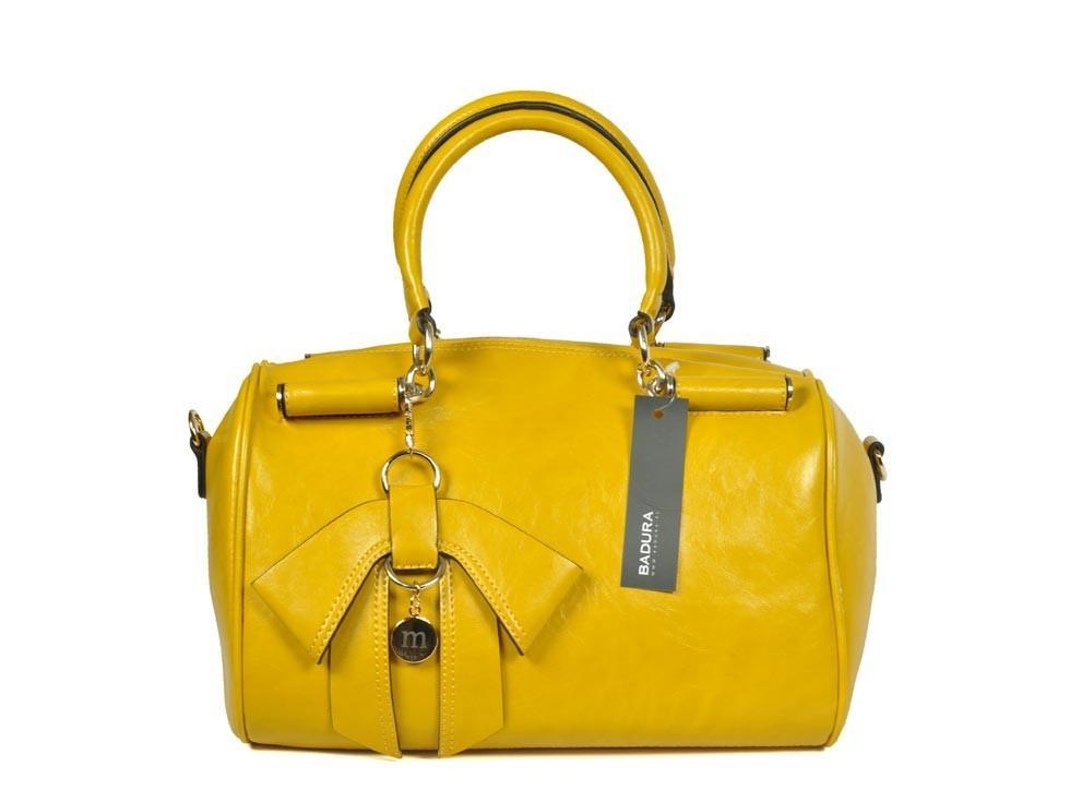 kuferek Badura w kolorze żółtym - modne torebki