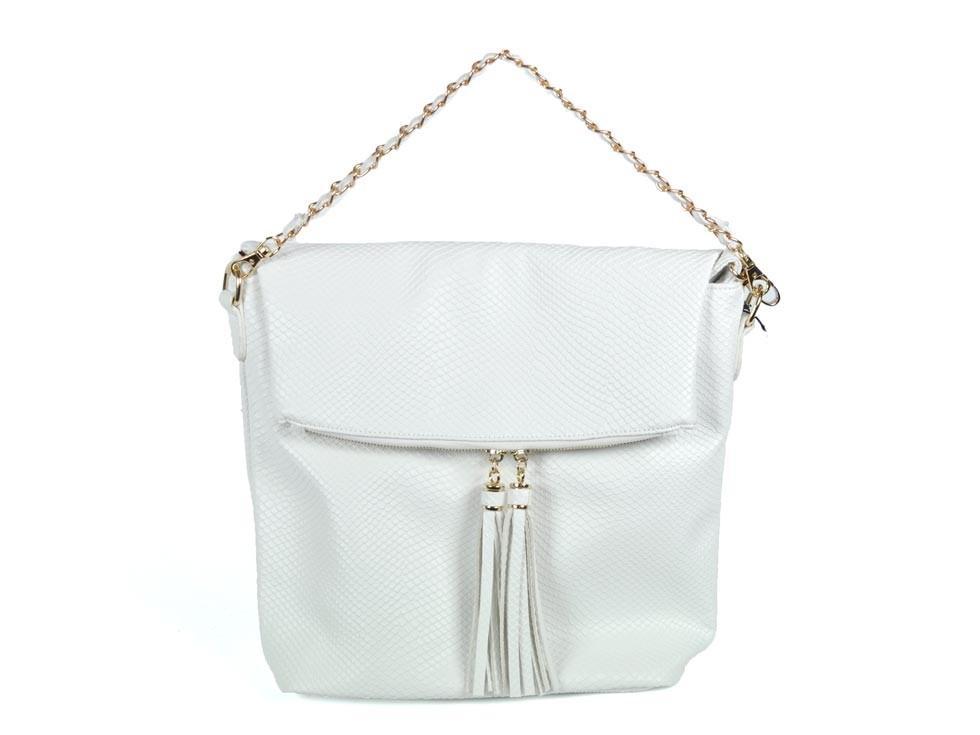 modna torebka Badura w kolorze białym - torebki 2013