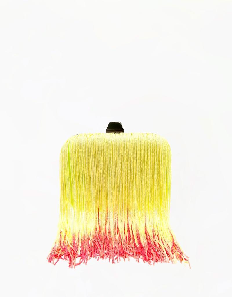 torebka Bershka z frędzlami w kolorze żółtym - torebki na lato