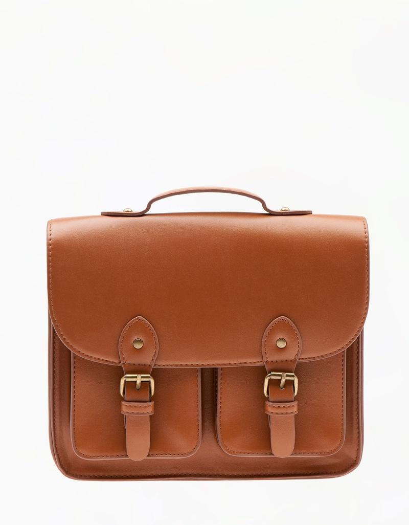 modna listonoszka Bershka w kolorze brązowym - torebki na lato