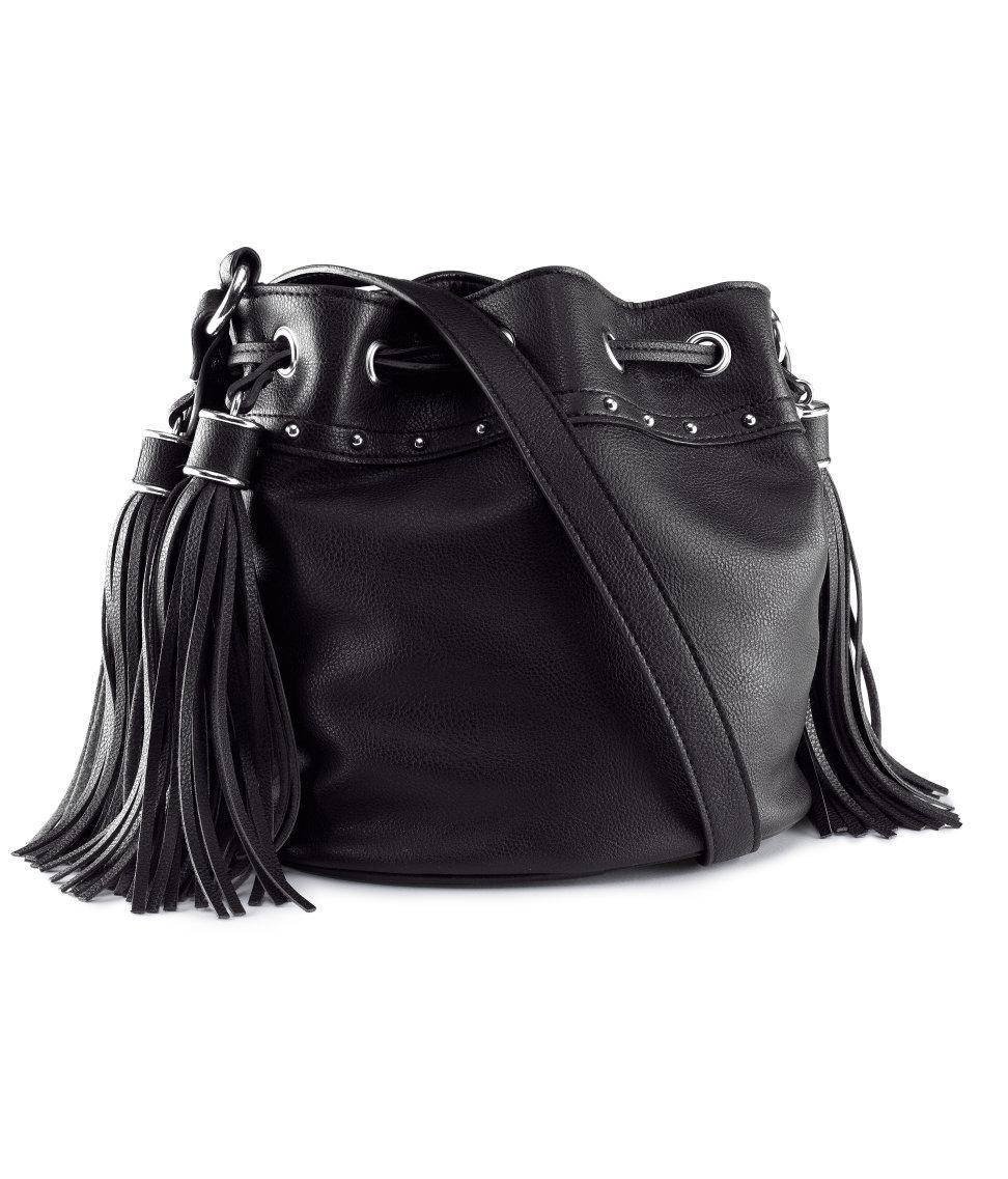 worek - torebka H&M w kolorze czarnym - modne torebki