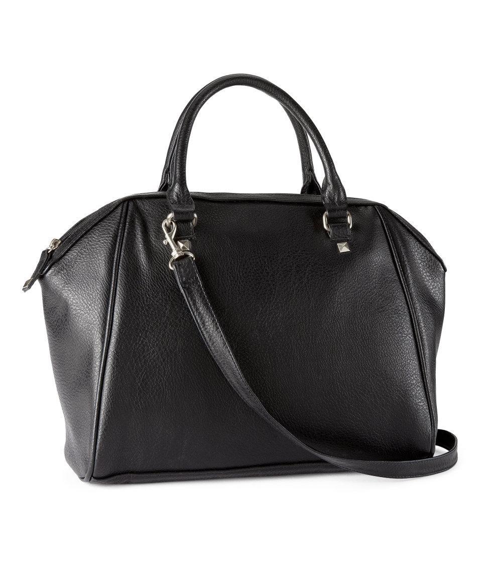duża torebka H&M w kolorze czarnym - kolekcja na lato