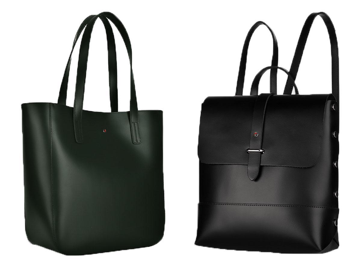 Czarny shopper i plecak Batycki w Rossmannie
