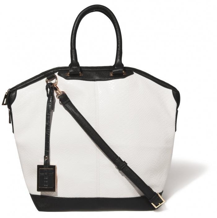 433c95a6 biało-czarna torebka Mohito - trendy na lato - Torebki Mohito na ...