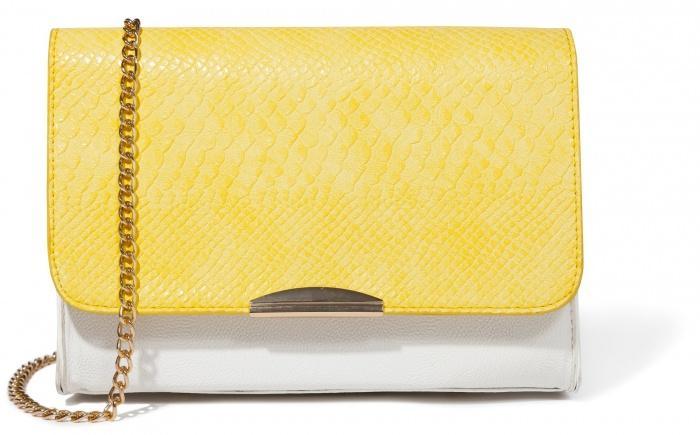 elegancka torebka Mohito w kolorze żółtym - torebki na wiosnę